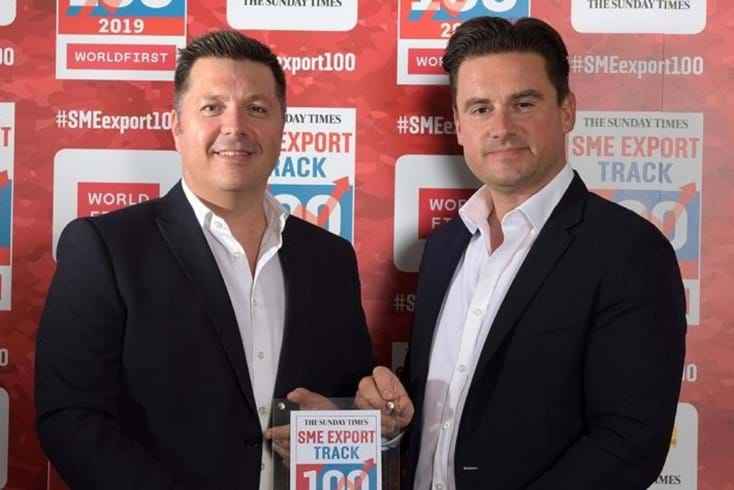 Sunday Times SME Export Track 100 Award Card Image
